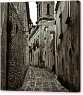 Street Of Erice Canvas Print