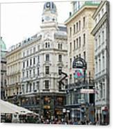 Street Of Vienna Canvas Print