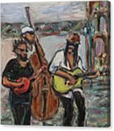 Street Performance - Left Hand 2 Canvas Print