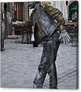 Street Performer In Munich Canvas Print