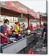 Street Restaurant In Phnom Penh Cambodia Canvas Print