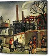 Street Scene In Paris, 1926 Canvas Print