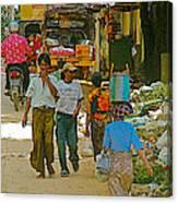 Street Scene In Tachilek-burma Canvas Print