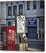 Street Scene With Coke Machine No. 2110 Canvas Print