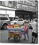 Street Seller Canvas Print