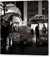 Street Vendor Row Canvas Print
