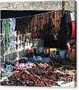 Street Vendor Selling Rosaries Canvas Print