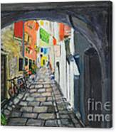 Street View 2 From Pula Canvas Print