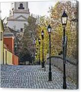 Street View In Gyor Canvas Print