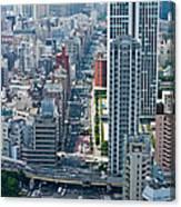 Street View Tokyo Canvas Print
