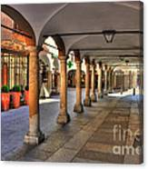 Street With Arches And Columns Canvas Print