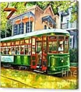 Streetcar On St.charles Avenue Canvas Print