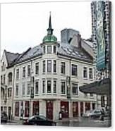 Streets Of Aalesund Canvas Print