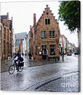 Streets Of Brugges 3 Canvas Print