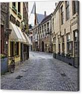 Streets Of Bruges Canvas Print