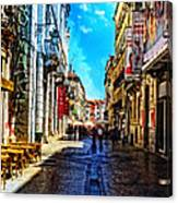 Streets Of Lisbon 1 Canvas Print