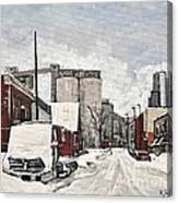 Streets Of Montreal Pointe St. Charles Canvas Print