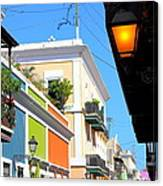 Streets Of Old San Juan Canvas Print