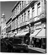 Streets Of Puebla 9 Canvas Print
