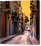 Streets Of San Juan Canvas Print