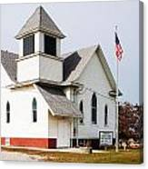 Stringtown Community Church Canvas Print