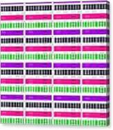 Stripe And Check Canvas Print