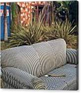 Striped Couch II Canvas Print