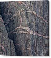 Striped Granite, Black Canyon Of The Canvas Print