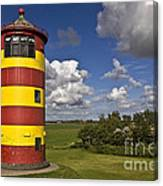 Striped Lighthouse Canvas Print