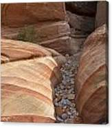 Striped Sandstone Canvas Print