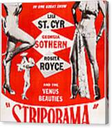 Striporama, Us Poster, From Left Lili Canvas Print
