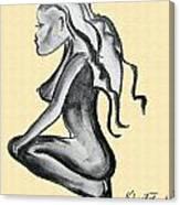Stripper Chic Beige Canvas Print
