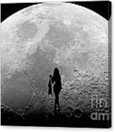 Stripper On The Moon Canvas Print
