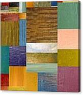 Strips And Pieces Lv Canvas Print