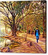 Stroll In The Park. Canvas Print