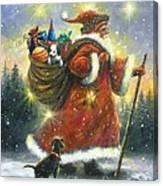 Strolling Santa II Canvas Print