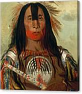 Stu-mick-o-sucks. Buffalo Bull's Back Fat. Head Chief. Blood Tribe Canvas Print