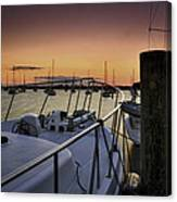 Stuart Marina At Sunset Canvas Print