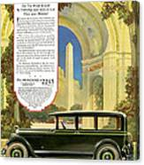 Studebaker Big Six - Vintage Car Poster Canvas Print