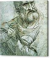 Study For An Apostle From The Last Supper Canvas Print