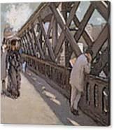 Study For Le Pont De L Europe Canvas Print
