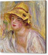 Study Of A Girl, C.1918-19 Canvas Print