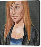 Study Of A Young Woman In A Black Sweater Canvas Print