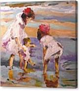 Study Of Edward Potthast's Seashore Canvas Print