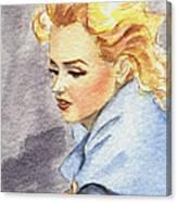 study of Marilyn Monroe Canvas Print