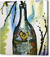 Study - Yellow Ducky In  Bottle Canvas Print