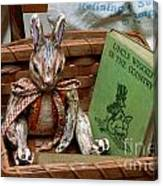 Stuffed Rabbit And Uncle Wiggly Book Canvas Print