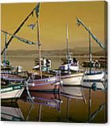 Stunning Fishing Port Canvas Print