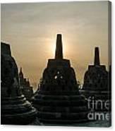 Stupah At Borobudur Canvas Print
