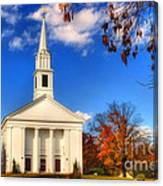 Sturbridge Church In Autumn Canvas Print